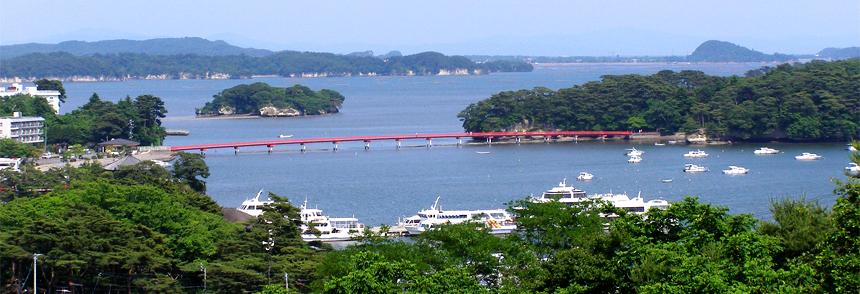 松島湾が一望
