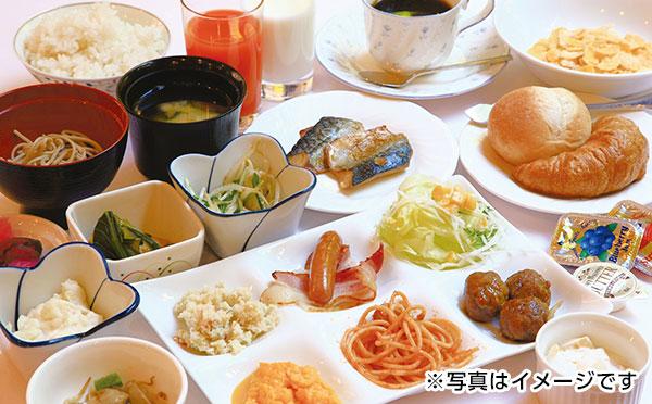 無料朝食バイキング