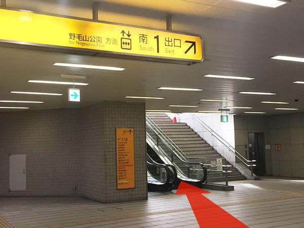 桜木町駅からの道順
